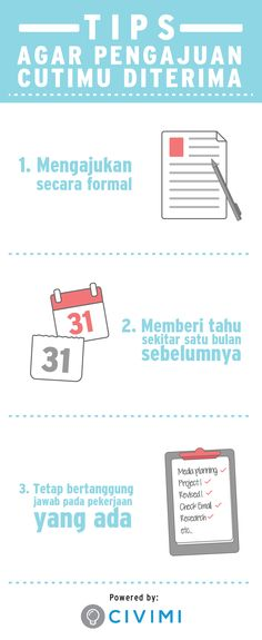 Ikuti 3 Tips Ini agar Pengajuan Cutimu Diterima (Infographic) Study Planner, Business Intelligence, Stand Up Comedy, Online Portfolio, Business Tips, Productivity, Did You Know, Qoutes, Motivational