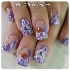 Acrylic nails by Kristal @ The Glitter Palace
