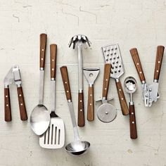 Wood Cooks Tools Collection | west elm. i love how this has a very classic look