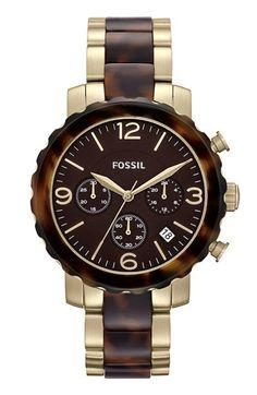 Fossil Tortoiseshell Round Chronograph
