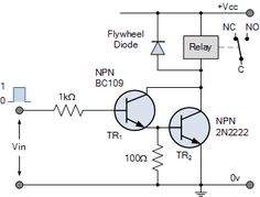 NPN Darlington Relay Switch Circuit