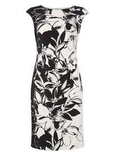 *Roman Originals Black Floral Jersey Scuba Dress - Kleider- Dorothy Perkins Deutschland