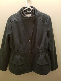 New York and Company Peplum Banded-Collar Wool Blend Jacket Size XL #NewYorkCompany #Peplum #Casual