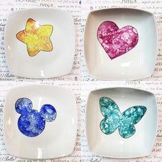Nuevos platos decorados #siluetas Quedan super vistosos en la mesa!!!