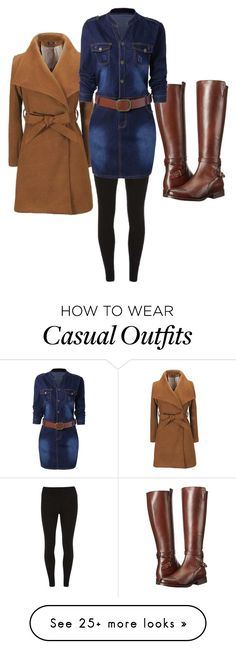 """""""Casual Winter Wear"""" by whynterthyme on Polyvore featuring Dorothy Perkins and Frye"""