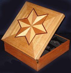 Caixa estojo para coleção de relógios em marchetaria Case Box marquetry for Collection watches by Débora Salzgeber