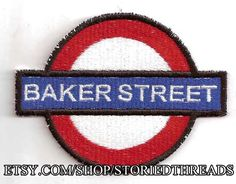 Baker Street Tube Station Patch  inspired by by StoriedThreads, $10.00