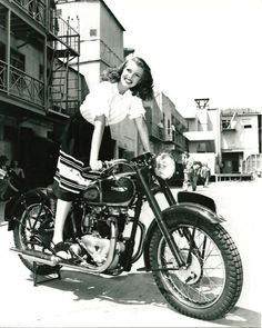 Motorcycle girls vintage