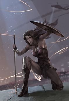 wonder woman final, Norwata artwork on ArtStation at https://www.artstation.com/artwork/E9YmN