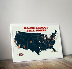 Earth Toned US Travel Map With Pins United States Map Travel - Us map of baseball stadiums outline