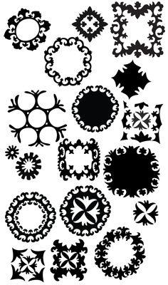Suzani patterns, stencil