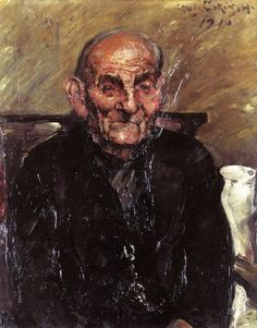 Old Man, by  Lovis Corinth - 1916.  Private collection, oil on canvas, 80 cm (31.5 in.) x 66 cm (25.98 in.)