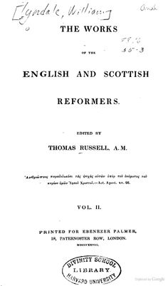 The Works of the English and Scottish Reformers: The works of Tyndale - Google Books