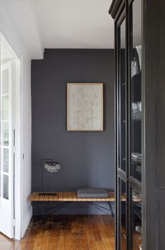Dark grey walls
