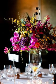 Don't you love the pops of color in this stunning centerpiece?