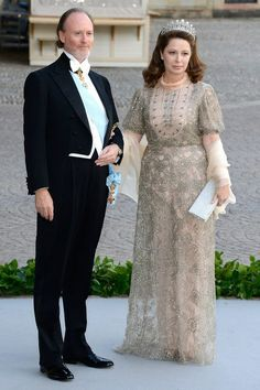 Prince Pierre of Arenberg and Princess Silvia of Arenberg attends the Royal Swedish wedding, 8 June 2013