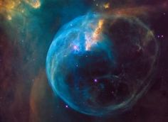 """-NGC 7635 """"the bubble nebula"""" located in the constellation Cassiopeia- . Telescope Images, Hubble Space Telescope, Dark Matter, Sistema Solar, Dark Energy, Mercury Retrograde, Space Images, Light Year, Milky Way"""