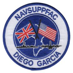Diego Garcia Naval Support Facility Patch Diego Garcia, Military Careers, Try To Remember, Patches, Navy, Hale Navy, Old Navy, Navy Blue