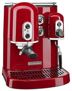 Best Espresso Machine Under 500 - KitchenAid KES2102ER Pro Line Series Espresso Maker with Dual Independent Boilers Cappuccino Maker, Cappuccino Coffee, Cappuccino Machine, Espresso Maker, Coffee Coffee, Coffee Break, Red Coffee Maker, Coffee Aroma, Coffee Pods