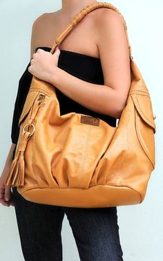 Leather shoulder bag with tassel Available in different by BaliELF, $210.00