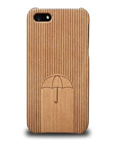 Coque iPhone 5 / 5S en bois - Umbrella Covearth