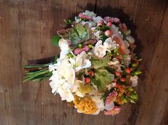 Whimsy bouquet by Cindy Platt. Brackett & Company floral designs