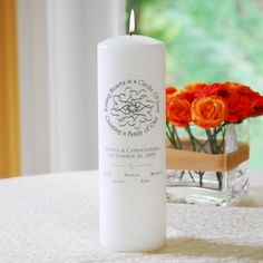 <p> Joining two families together will be an even more joyous occasion with our Blended Family Crest Unity Candle. Exclusively designed and customized for each family, this distinctive candle provides an element that is just as unique as your new unit. By representing each person, this wedding day must have will double as a wonderful decoration to place atop a mantle...