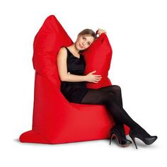 Sitting Bull The Bull Bean Bag Chair Upholstery: Flame Red