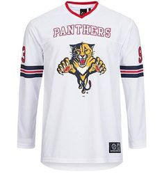88638a948e8 MAJESTIC Florida Panthers NHL Chucker LS Ice Hockey Jersey Official New  Men s L