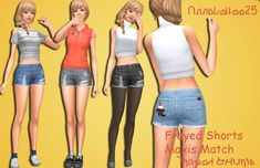 Maxis Match Shorts by Annabellee25 at SimsWorkshop • Sims 4 Updates