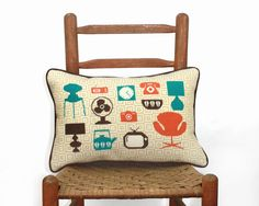 mod home mid century modern needlepoint or by ModernNeedleworks
