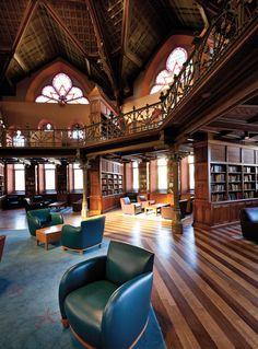 Chancellor Green Library at Princeton University, built 1872 in ornate Neo-Gothic style with an octagonal rotunda . it was the first building on the campus to be built for use as a library Green Library, Princeton University, Princeton Library, Library University, Beautiful Library, Home Libraries, Gothic Architecture, Library Architecture, Book Nooks