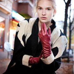 Red Gloves, Long Gloves, Leather Gloves, Leather Jacket, Kissable Lips, 40 Years Old, Lesbian, How To Wear, Women