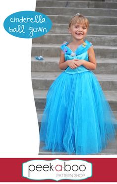 Cinderella Ball Gown free  pattern.  Beautiful dress up or Halloween costume or just even for a fabulous birthday party.
