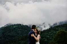 Mountain in the fog
