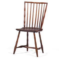 Rod-Back Windsor Side Chair (4/12/2014 - Americana: Live Salesroom Auction)