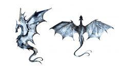 Ilustración de dragón acuarela pintada a. Small Dragon Tattoos, Small Tattoos, Dragon Tattoo On Hand, Dragon Tattoo Sketch, Tattoo Sketches, Watercolor Dragon Tattoo, Tattoo Drawings, Fantasy Dragon, Fantasy Art