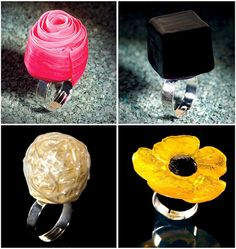 Candy rings by Escriba Pasteleria Barcelona, Spain