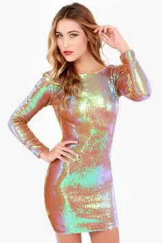 Dress the Population Lola Iridescent Sequin Dress - (birthday dress shopping is my current life distraction)