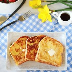 Αβγοφέτες με γάλα καρύδας και κανέλα, ψημένες στο φούρνο