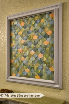watercolor fish scale artwork.  I think this might be my favorite of the fishscale art I've seen.