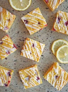 White blownie/ Lemon and cranberry Sweets Recipes, Gourmet Recipes, Desserts, Sweet Box, Cafe Food, Food Photo, Food Inspiration, Food And Drink, Treats