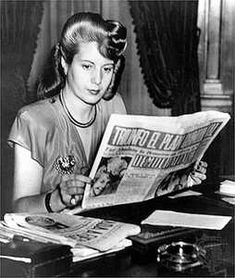 Eva Peron; As the First Lady, she spent her life helping the poor people of Argentina and gave the women the right to vote. She set up the Social Aid Foundation. She visited the sick, she gave away sewing machines, clothes or whatever was needed. She redistributed the nation's wealth from the rich to the poor.