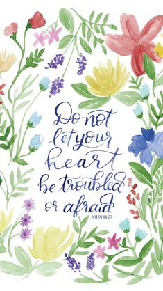 There are so many things that we worry about – especially as women. But today, Jesus tells us to not let our hearts be troubled or. Bible Art, Bible Verses Quotes, Faith Quotes, Healing Scriptures, Bible Scriptures, Bible Encouragement, Lord, Favorite Bible Verses, Spiritual Quotes