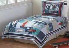 Surfing USA Twin Quilt with Pillow Sham My World http://www.amazon.com/dp/B005TX6E6W/ref=cm_sw_r_pi_dp_-ouMtb1M16XQTYKF