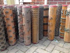 Antique, French Wallpaper Printing Rollers