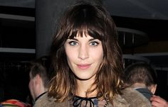 Slightly mussed bangs and a long, layered bob let the typically preppy Alexa Chung try out a more edgy look.