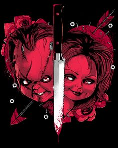 Bride of Chucky V1 [01316] - $27.00 : Horror T-Shirts : FRIGHT-RAGS, Horror Shirts