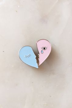 H.K.M. Tristan and Iseult Enamel Lapel Pins - http://www.hkm.nyc