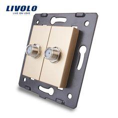 Livolo EU Standard Socket Accessory For DIY Products,The Base of Socket Double SATV Plug Socket VL-C7-2ST-13